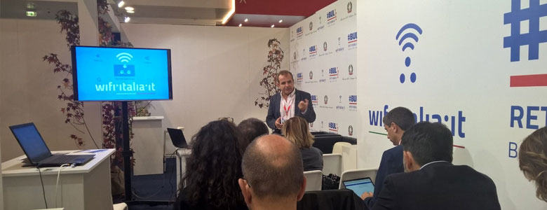 Assemblea Anci, stand Mise ospita workshop per spiegare Wifi°Italia°it